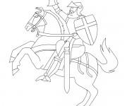 Coloriage dessin  Chevalier 12