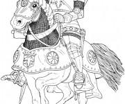 Coloriage dessin  Chevalier 15