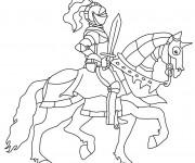 Coloriage dessin  Chevalier 16