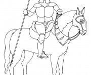 Coloriage dessin  Chevalier 18
