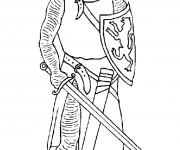 Coloriage dessin  Chevalier 3