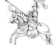 Coloriage dessin  Chevalier 4