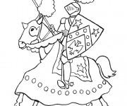 Coloriage dessin  Chevalier 9
