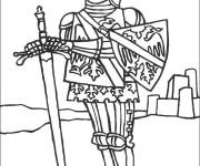 Coloriage Chevalier anglais