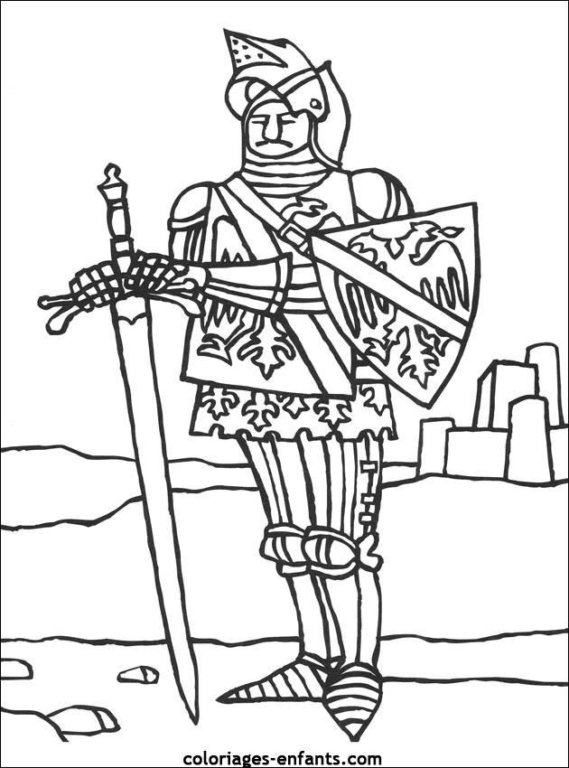 Coloriage et dessins gratuits Chevalier anglais à imprimer