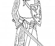 Coloriage et dessins gratuit Chevalier anglais en armure à imprimer