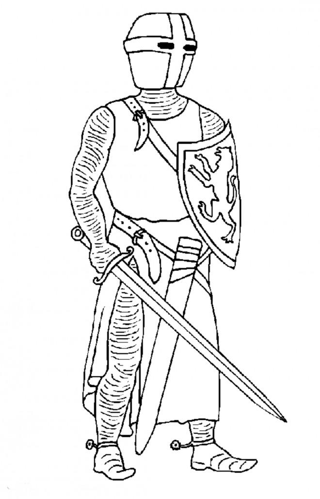 Coloriage et dessins gratuits Chevalier anglais en armure à imprimer