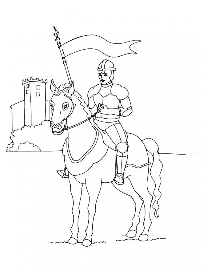Coloriage chevalier arm dessin gratuit imprimer - Dessin anime chevalier de la table ronde ...