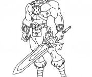 Coloriage et dessins gratuit Chevalier combattant à imprimer