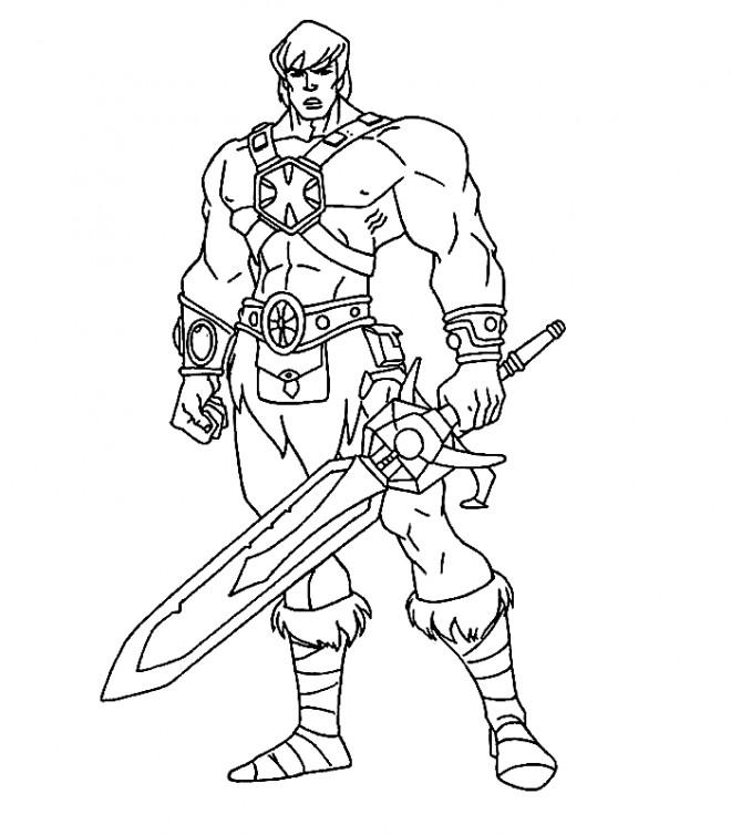 Coloriage Chevalier combattant dessin gratuit à imprimer