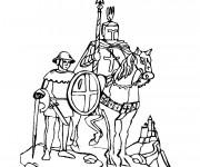 Coloriage et dessins gratuit Chevalier croisade à imprimer