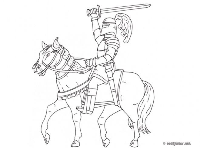 Coloriage et dessins gratuits Chevalier Cuirasse à imprimer