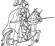 Coloriage et dessins gratuit Chevalier de moyen âge pendant la cérémonie à imprimer