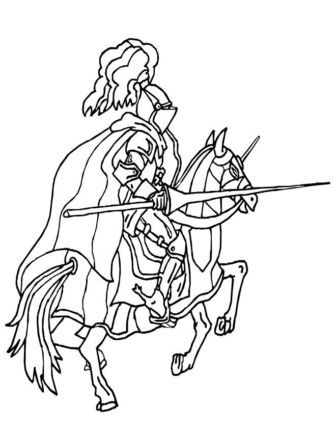 chevalier de moyen age pendant la ceremonie