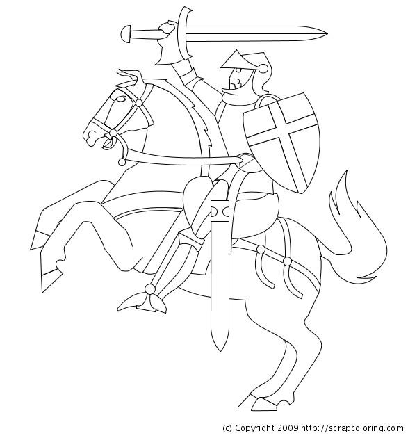 Coloriage et dessins gratuits Chevalier dessin simple à imprimer