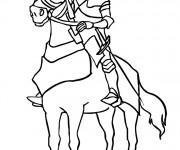 Coloriage Chevalier du moyen age