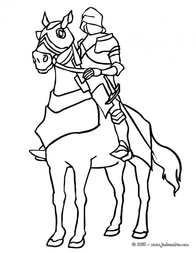 Coloriage chevalier du moyen age dessin gratuit imprimer - Dessin moyen age ...