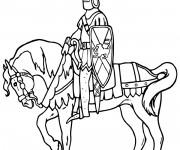 Coloriage Chevalier du Royaume britannique sur son cheval