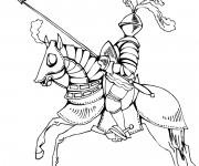 Coloriage et dessins gratuit Chevalier en armure à imprimer