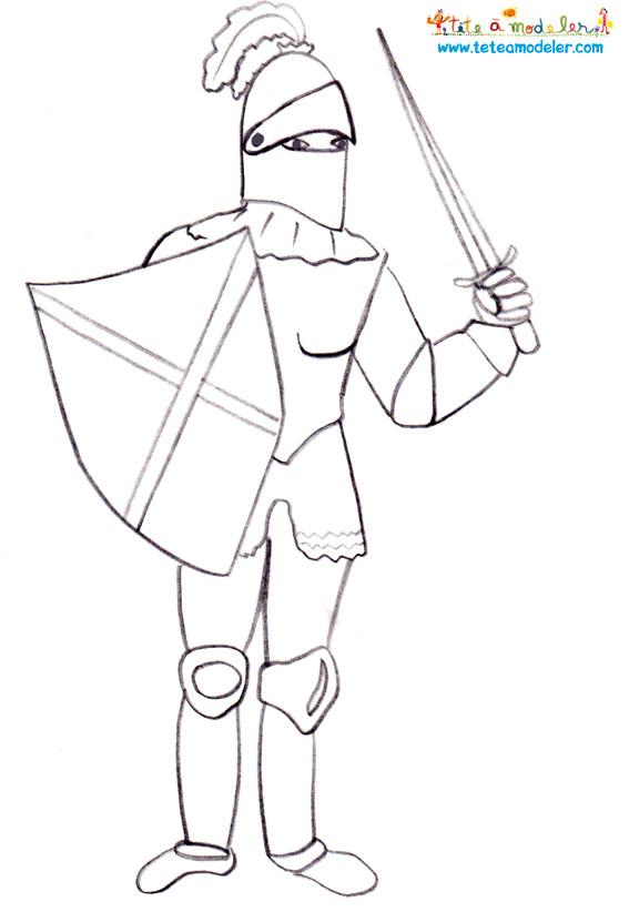 Coloriage chevalier en armure de moyen ge dessin gratuit imprimer - Image du moyen age a imprimer ...