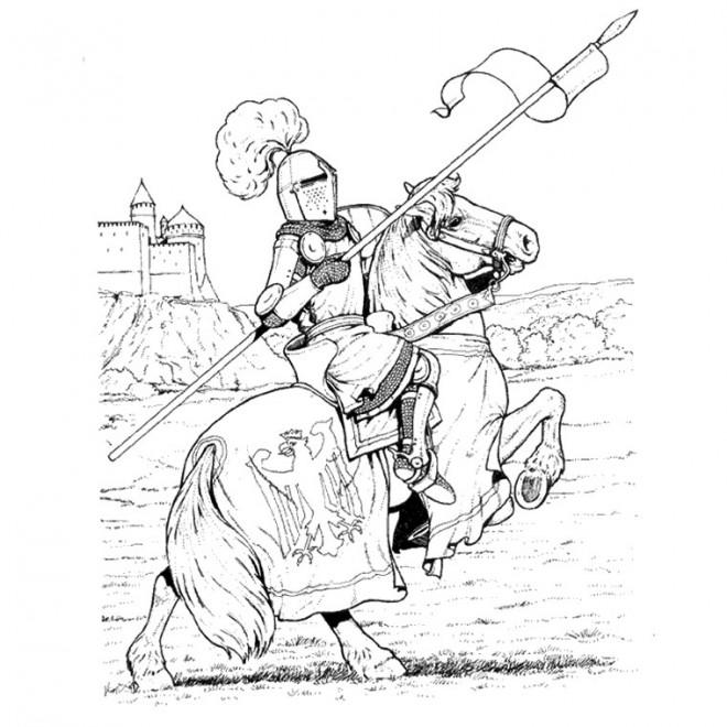 Coloriage chevalier en armure dessin couleur dessin - Dessin armure ...