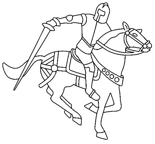 Coloriage et dessins gratuits Chevalier en guerre à imprimer