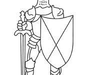 Coloriage et dessins gratuit Chevalier et armes à imprimer
