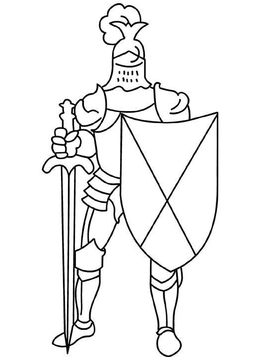 Coloriage et dessins gratuits Chevalier et armes à imprimer