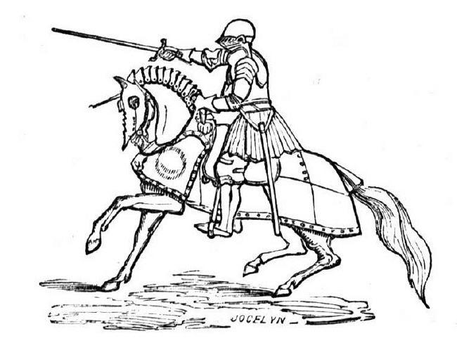Coloriage chevalier et bataille dessin gratuit imprimer - Image du moyen age a imprimer ...