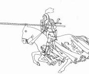 Coloriage et dessins gratuit Chevalier et Quintaine à imprimer
