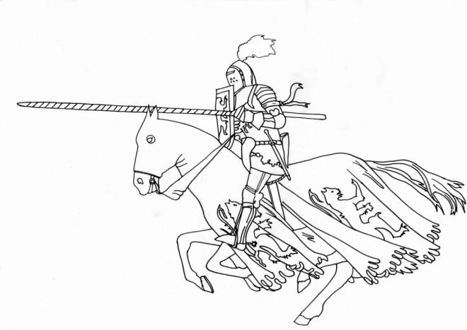 Coloriage et dessins gratuits Chevalier et Quintaine à imprimer