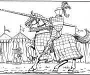 Coloriage et dessins gratuit Chevalier et tournoi à imprimer