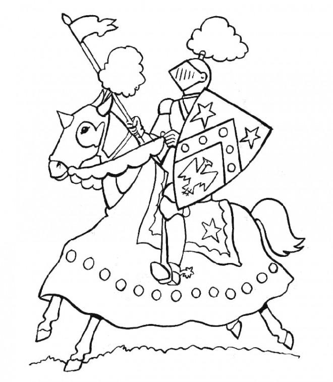 Coloriage et dessins gratuits Chevalier facile à imprimer
