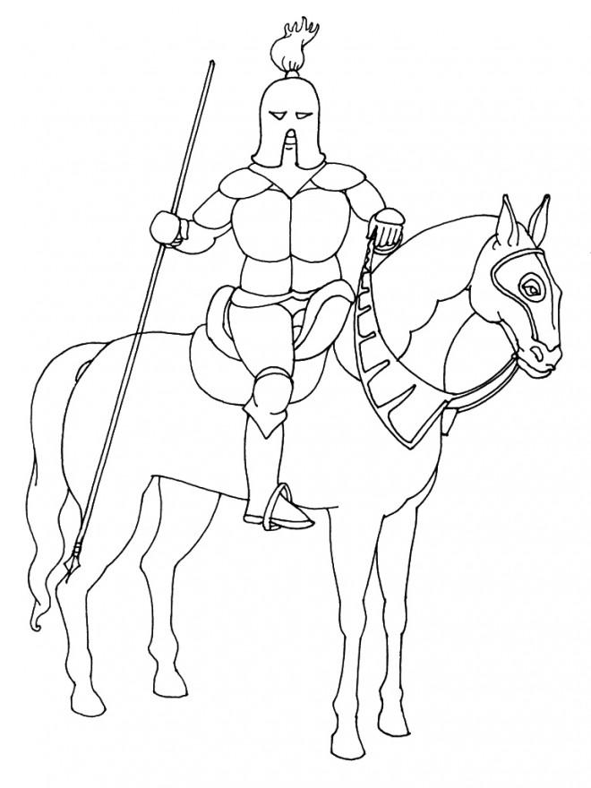 Coloriage et dessins gratuits Chevalier guerrier à imprimer