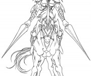 Coloriage Chevalier imaginaire sur son cheval