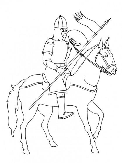 Coloriage chevalier pr par pour la bataille - Dessin anime chevalier de la table ronde ...