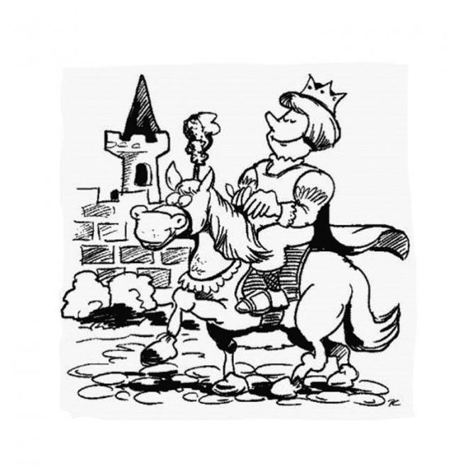 Coloriage et dessins gratuits Chevalier rigolo à imprimer