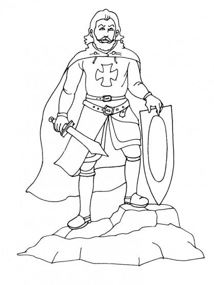Coloriage Armure Chevalier.Coloriage Chevalier Gratuit A Imprimer