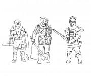 Coloriage Chevaliers de moyen âge en armure