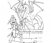 Coloriage dessin  Dragon 35