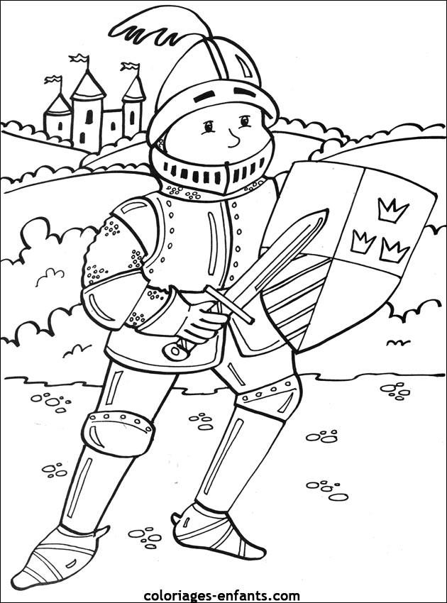 Coloriage et dessins gratuits Jeune prince Chevalier à imprimer