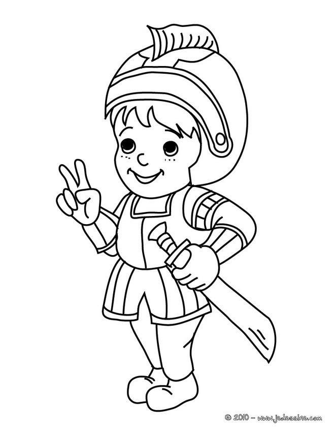 Coloriage et dessins gratuits Le petit Chevalier à imprimer