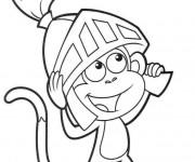 Coloriage Le petit singe Chevalier