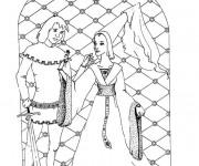 Coloriage Le prince et la princesse