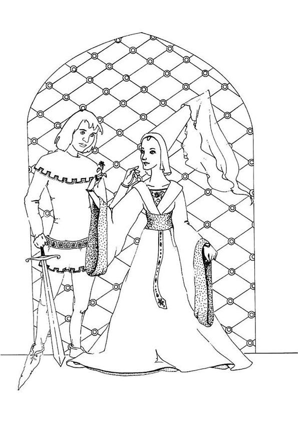 Coloriage et dessins gratuits Le prince et la princesse à imprimer