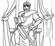 Coloriage Le Roi dans son château