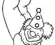 Coloriage Clown acrobate
