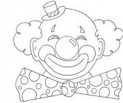 Coloriage clown avec la t te ronde dessin gratuit imprimer - Tete de clown a imprimer ...