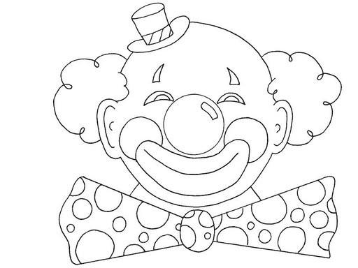 Coloriage Clown Avec La Tete Ronde Dessin Gratuit A Imprimer