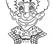 Coloriage Clown avec maquillage spectaculaire